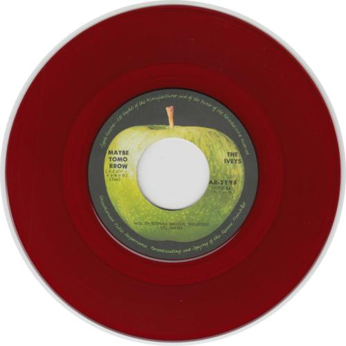 "The Iveys Maybe Tomorrow - Red Vinyl 7"" vinyl single (7 inch record) Japanese IVY07MA323783"