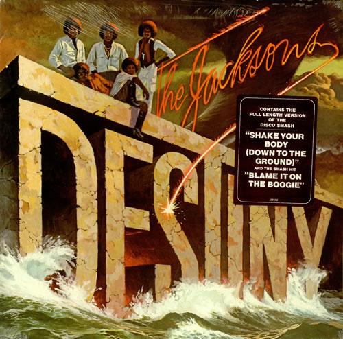 The Jackson Five Destiny Sealed Sticker Us Vinyl Lp