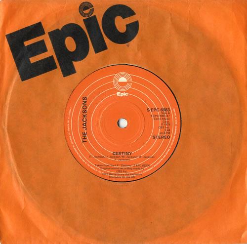 "The Jackson Five Destiny 7"" vinyl single (7 inch record) UK JKS07DE582102"