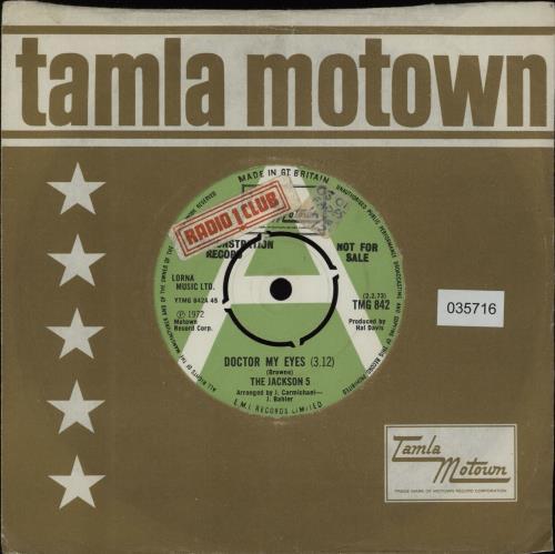 "The Jackson Five Doctor My Eyes 7"" vinyl single (7 inch record) UK JKS07DO43367"