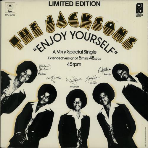 "The Jackson Five Enjoy Yourself 12"" vinyl single (12 inch record / Maxi-single) UK JKS12EN35749"