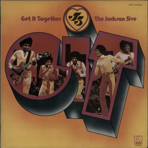 The Jackson Five Get It Together vinyl LP album (LP record) Japanese JKSLPGE608369
