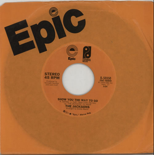 """The Jackson Five Show You The Way To Go 7"""" vinyl single (7 inch record) US JKS07SH629467"""