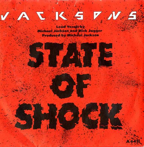"The Jackson Five State Of Shock - Paper label 7"" vinyl single (7 inch record) UK JKS07ST613199"