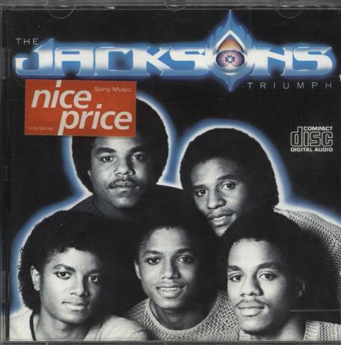 The Jackson Five Triumph CD album (CDLP) Austrian JKSCDTR710801