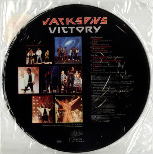 The Jackson Five Victory - Stickered picture disc LP (vinyl picture disc album) UK JKSPDVI39176