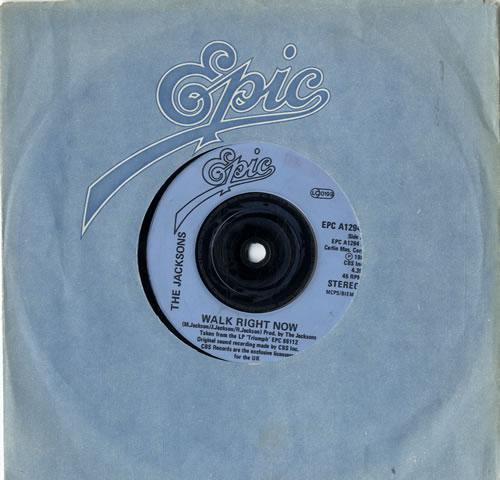 "The Jackson Five Walk Right Now - Injection label 7"" vinyl single (7 inch record) UK JKS07WA604870"