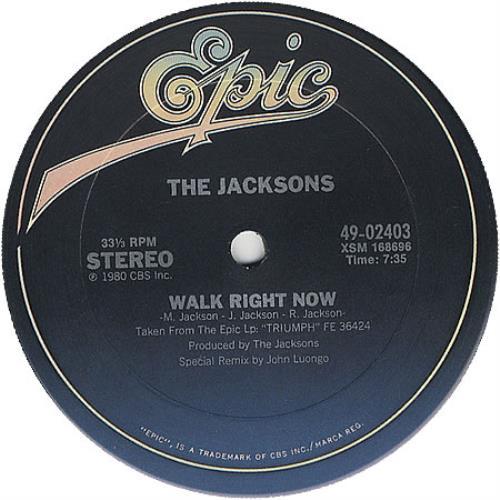 "The Jackson Five Walk Right Now 12"" vinyl single (12 inch record / Maxi-single) US JKS12WA38042"