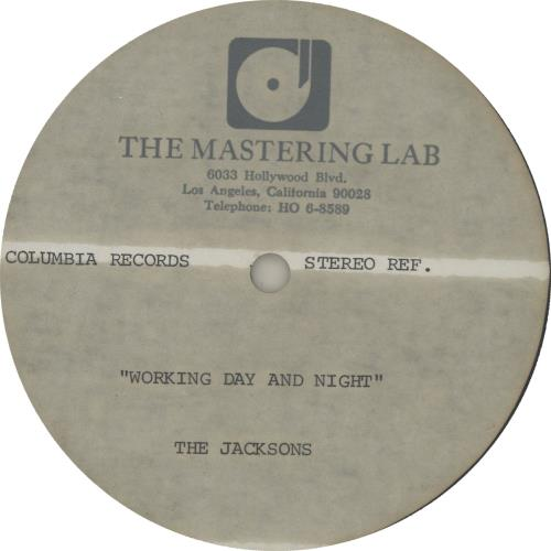 The Jackson Five Working Day And Night acetate US JKSATWO645938
