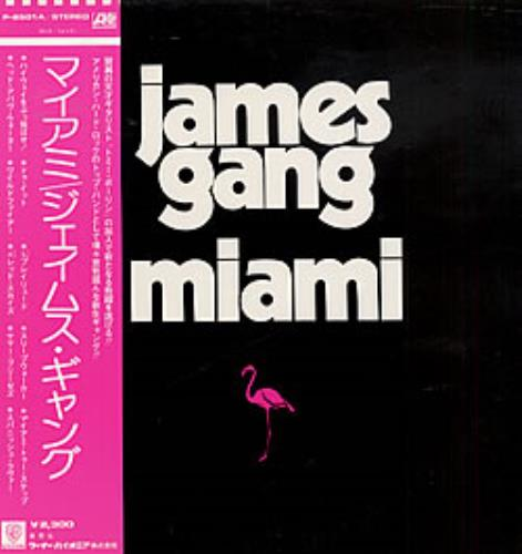 The James Gang Miami + obi vinyl LP album (LP record) Japanese JMGLPMI221757