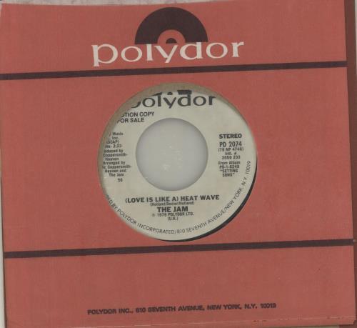 "The Jam (Love Is Like) A Heatwave 7"" vinyl single (7 inch record) US JAM07LO682631"