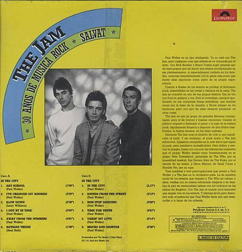 The Jam 30 Anos De Musica Rock - Salvat - Sealed vinyl LP album (LP record) Mexican JAMLPAN123278