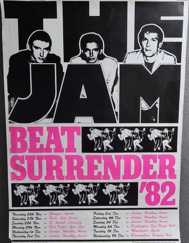 The Jam Beat Surrender 82 Uk Promo Poster 232478
