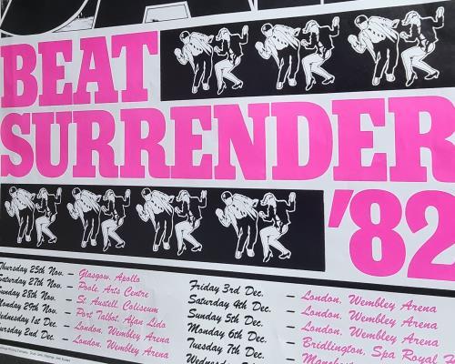 The Jam Beat Surrender '82 poster UK JAMPOBE232478