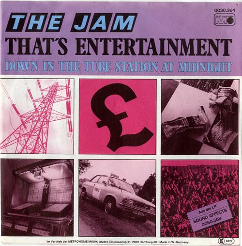 "The Jam That's Entertainment 7"" vinyl single (7 inch record) German JAM07TH615438"