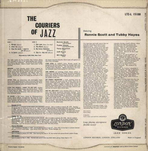 The Jazz Couriers The Couriers Of Jazz! vinyl LP album (LP record) UK JZKLPTH528003