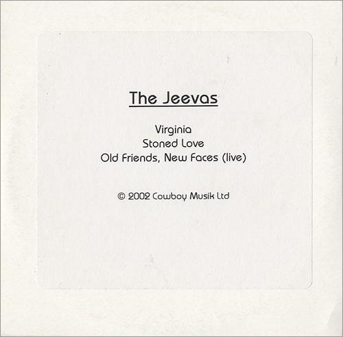 The Jeevas Virginia CD-R acetate UK TJVCRVI436867