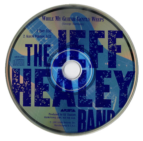 The Jeff Healey Band While My Guitar Gently Weeps US Promo CD single ...
