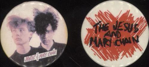 The Jesus & Mary Chain Pair Of Badges badge UK JMCBGPA699904