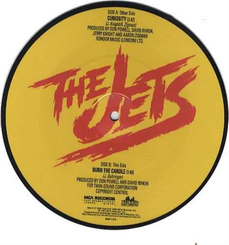 "The Jets Curiosity 7"" vinyl picture disc 7 inch picture disc single UK JEZ7PCU339688"