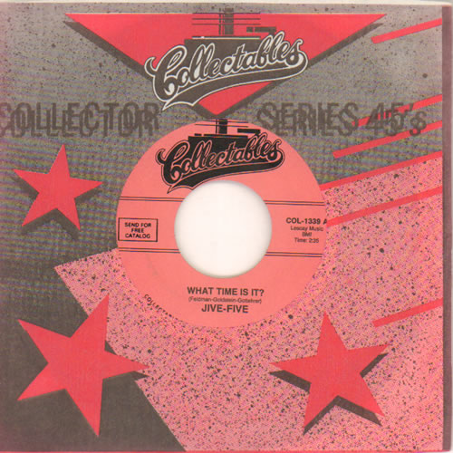 """The Jive Five What Time Is It? 7"""" vinyl single (7 inch record) US VV307WH642541"""