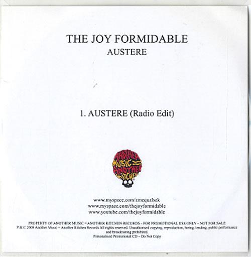 The Joy Formidable Austere CD-R acetate UK T75CRAU493580