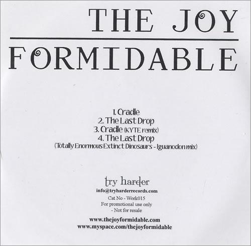 "The Joy Formidable Cradle CD single (CD5 / 5"") UK T75C5CR470138"