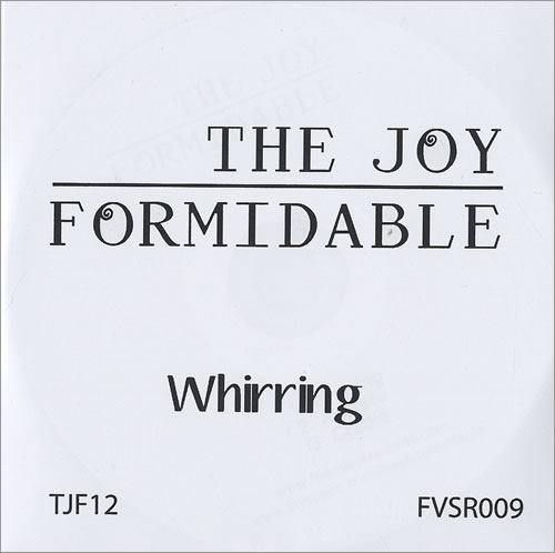 The Joy Formidable Whirring CD-R acetate UK T75CRWH493642