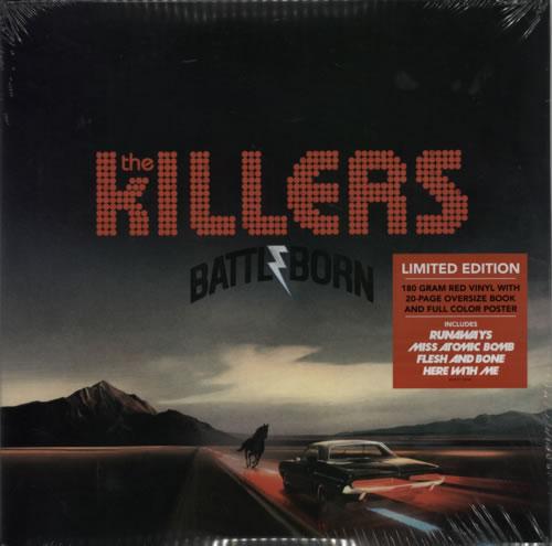 The Killers Battle Born 180gm Red Vinyl Sealed Uk 2 Lp