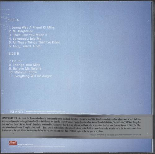 The Killers Hot Fuss - Blue Vinyl + T-Shirt [L] Vinyl Box Set UK TKIVXHO724251