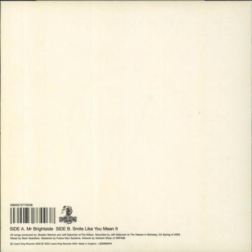 The Killers Mr Brightside 1st White Vinyl Uk 7 Quot Vinyl