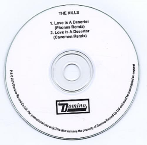 The Kills Love Is A Deserter CD-R acetate UK T/KCRLO333010