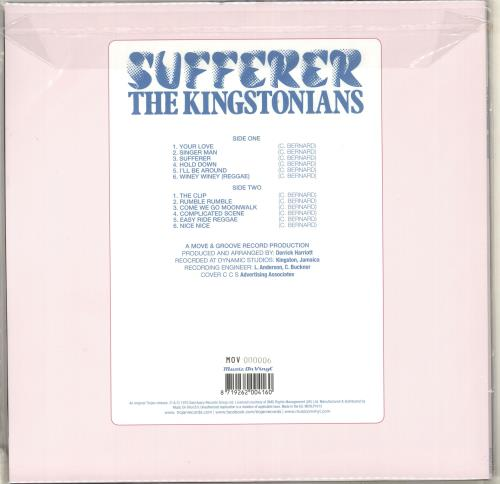 The Kingstonians Sufferer - 180gm Orange Vinyl vinyl LP album (LP record) Dutch V3TLPSU714300