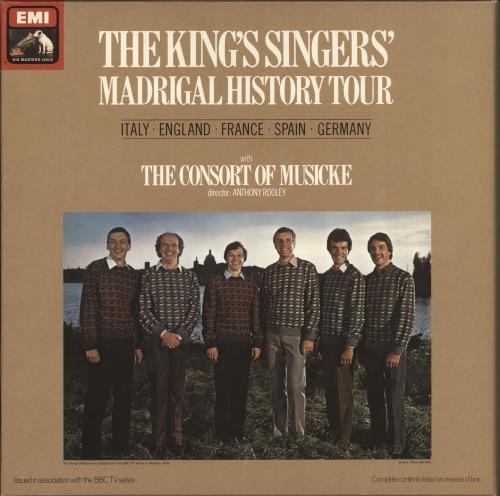 The King's Singers Madrigal History Tour Vinyl Box Set German KN1VXMA724059