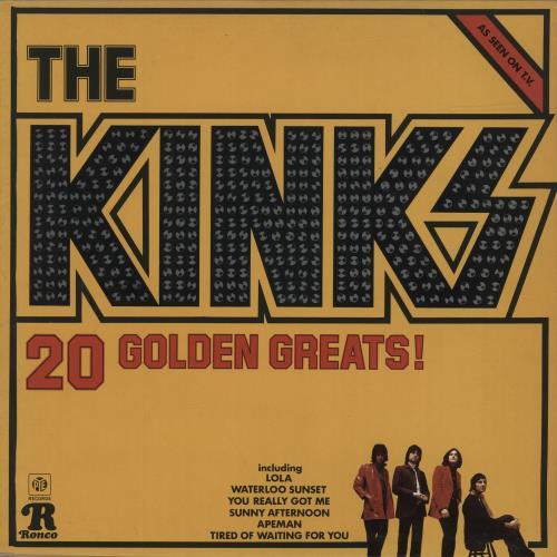 The Kinks 20 Golden Greats vinyl LP album (LP record) UK KINLPGO280930