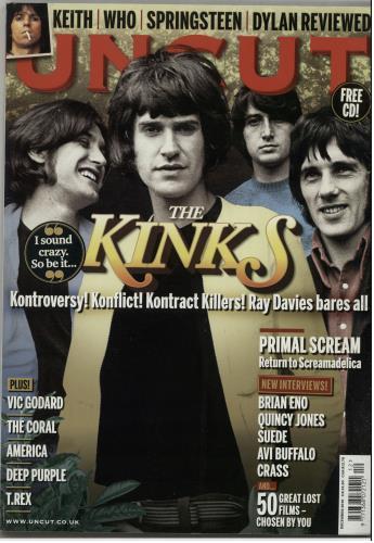 The Kinks Uncut - December 2010 magazine UK KINMAUN643180