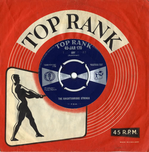 "The Knightsbridge Strings Cry 7"" vinyl single (7 inch record) UK VHY07CR558816"