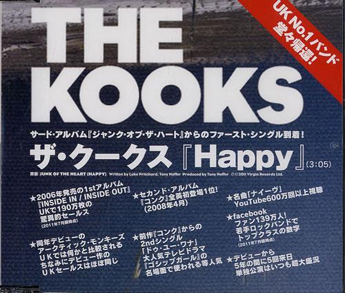 "The Kooks Happy CD single (CD5 / 5"") Japanese OKSC5HA554391"