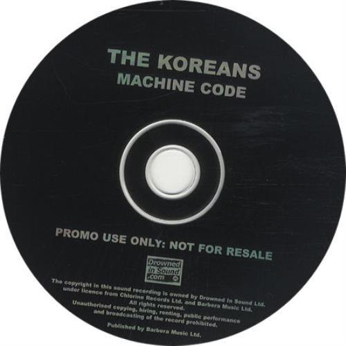 "The Koreans Machine Code CD single (CD5 / 5"") UK TEKC5MA254734"
