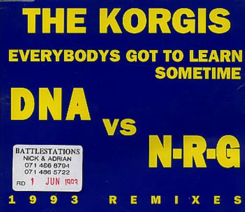 "The Korgis Everybodys Got To Learn Sometime '93 Remix CD single (CD5 / 5"") UK KGIC5EV191744"