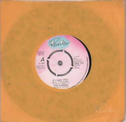 "The Korgis If I Had You 7"" vinyl single (7 inch record) UK KGI07IF564895"