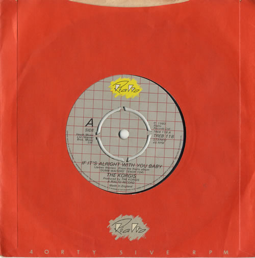 "The Korgis If It's Alright With You Baby 7"" vinyl single (7 inch record) UK KGI07IF566724"