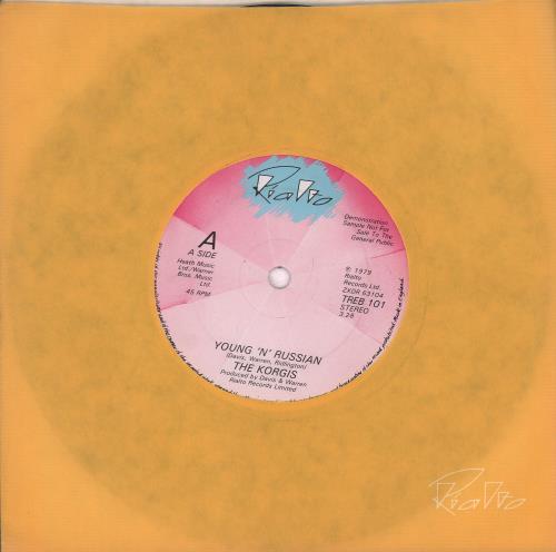 "The Korgis Young 'N' Russian 7"" vinyl single (7 inch record) UK KGI07YO666645"