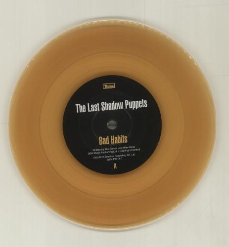 Hedendaags The Last Shadow Puppets Bad Habits - Yellow Vinyl UK 7
