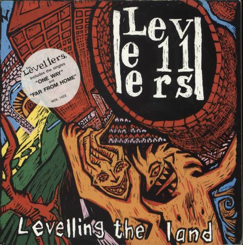 The Levellers Levelling The Land - Song Hype Stickered sleeve vinyl LP album (LP record) UK LVLLPLE710869