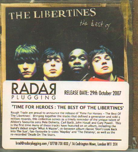 The Libertines Time For Heroes: The Best Of The Libertines CD-R acetate UK TLBCRTI656210