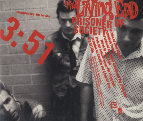 "The Living End Prisoner Of Society CD single (CD5 / 5"") US L-EC5PR493670"