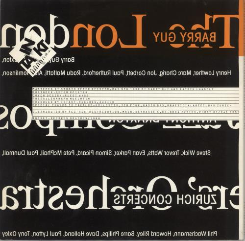 The London Jazz Composers Orchestra Zurich Concerts 2-LP vinyl record set (Double Album) Swiss V3H2LZU734433