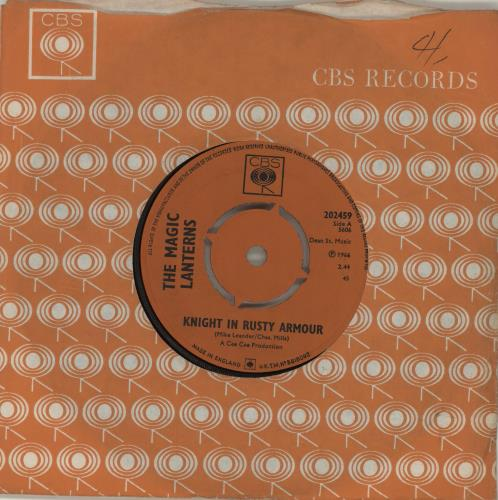 "The Magic Lanterns Knight In Rusty Armour 7"" vinyl single (7 inch record) UK AGM07KN685770"