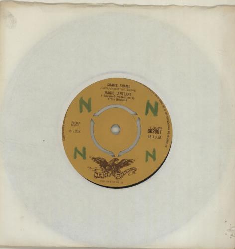 """The Magic Lanterns Shame, Shame - WOL 7"""" vinyl single (7 inch record) UK AGM07SH685280"""